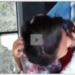 Aluna novinha chupando pau do motorista da van escolar