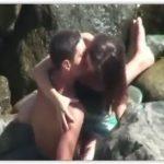 Flagrente real casal novinho fudendo no mato